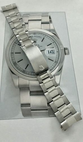 ROLEX PRESIDENT 18k WHITE GOLD 1980 Marked: 76 on end Pieces