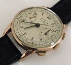 VALJOUX 71 Swiss Push Button Chronograph 18k ROSE GOLD 38mm 17j C1955