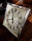 Rare CARTIER 8- DAY 1924 Art Deco Mantel Clock 8 X 8 inch Rectangular