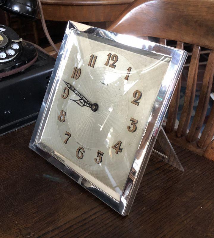 Rare OMEGA 1930 Art Deco Mantel Clock 8 X 8 inch Rectangular 1930