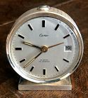 CARTIER 8 DAY DATE ALARM 64mm Round WHITE METAL 1964
