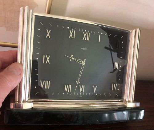 "CARTIER 8 DAY Art Deco CHURCHILL Model 6.5 X 9.5""  Silver Plate C:1938"