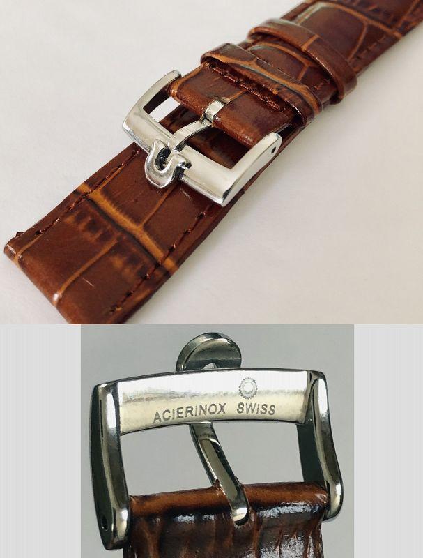 OMEGA Speedmaster Model 20mm Cognac Leather 18mm Steel Omega Buckle