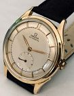 OMEGA 14k GOLD BUMPER AUTOMATIC Sub. Seconds, BOMBAY Lugs 1954