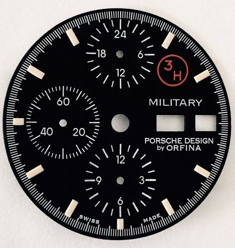 PORSCH DESIGN DAY-DATE 3H MILITARY DIAL by ORFINA 29mm diameter