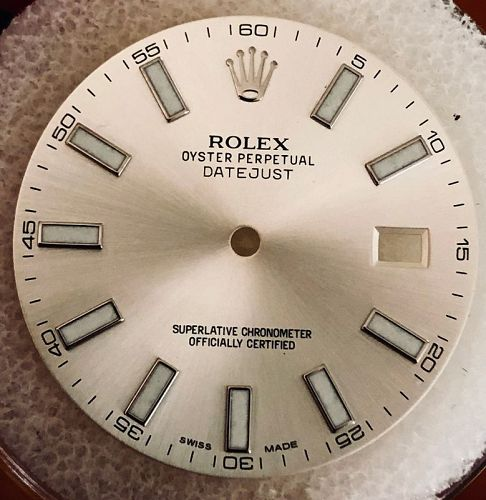 ROLEX DATEJUST II Silver Stick DIAL for the 41mm Ref. 116300/116334