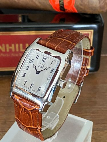 DUNHILL Men's Rectangular Steel Wristwatch Mechanical New 28mm/39mm