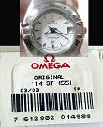 OMEGA Caliber 1551 Original Link.  114 ST 1551 Factory packaged unused