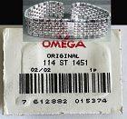 OMEGA Caliber 1451 Stainless Steel Bracelet LINK 114 ST 1451 Authentic