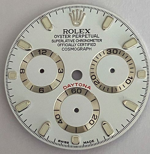 ROLEX DAYTONA White Needle Set 16520 Custom Dial E002534252