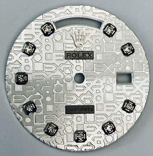ROLEX Silver President Day Date DIAMOND DIAL 18038 18238