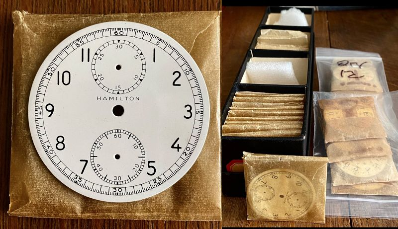HAMILTON MODEL 23 WWII Military Chronograph WHITE PORCELAIN Dial 1942
