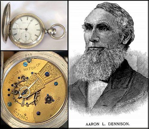 MELROSE WATCH Co. BOSTON, Mass. 4oz. Coin Silver HC C: 1866