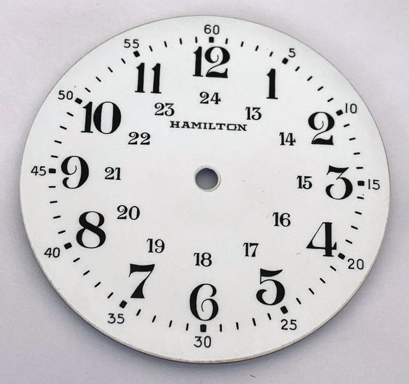 HAMILTON 3992B 24 HOUR DIAL WWII BRITISH CANADIAN MILITARY