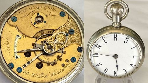 ROXCKFORD Key Wind HARNER.SILVEN private label Dial 1877