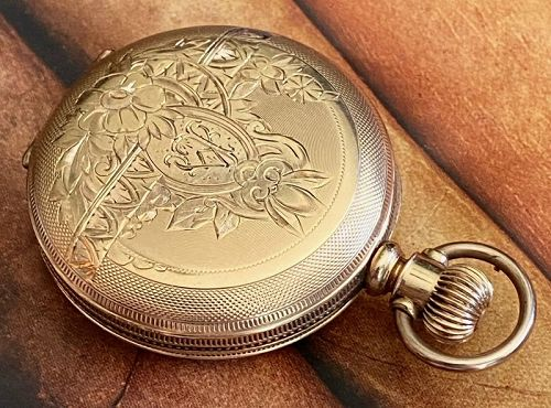 COLUMBUS WATCH Co. Dueber Gold Filled Fancy Hunting Case 6 size 1887