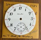 HAMILTON 16s Arabic DIAL Red 5 Min. Markers Marked in Script 1905 NOS