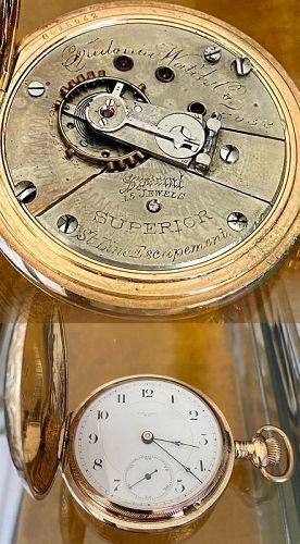 Fredonia W. Co. N.Y. SUPERIOR SPECIAL Adjusted Bold Arabic Dial  #7058