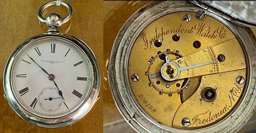 Independent Watch Co. Fredonia N.Y. No. 206,198 Original Key Wind Case