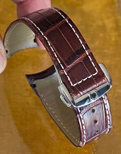 OMEGA STAINLESS Deployment 94521813 with 20mm Cordovan Strap