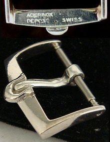 Vintage Omega 16mm Logo Buckle Aciernox Deposc Swiss