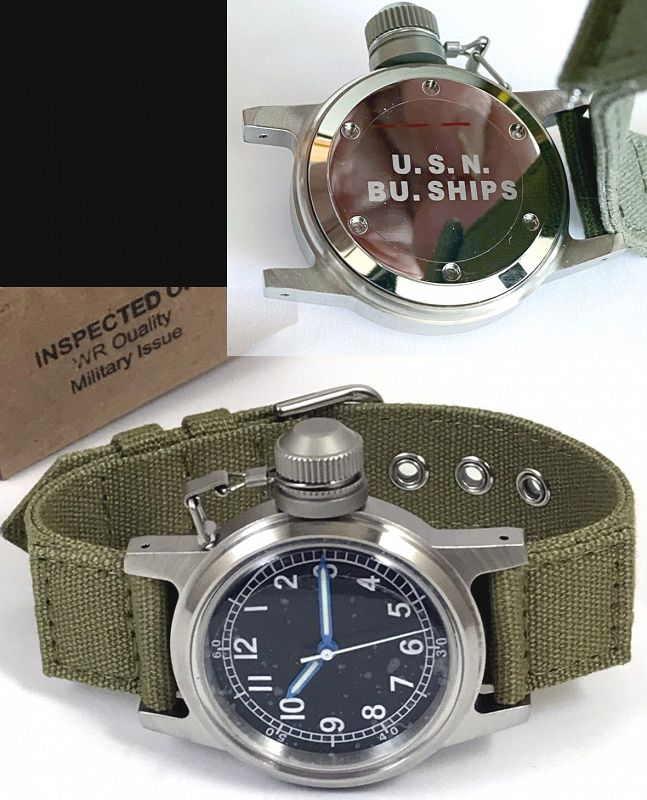 U.S.N. Bu. of Ships Canteen Navy Military Wristwatch  OUT-of-STOCK