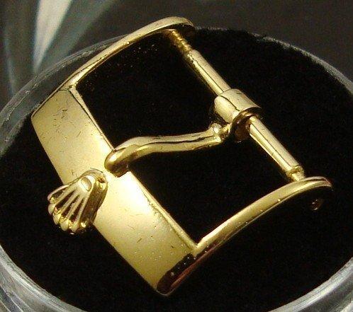 Rolex 16mm Logo Buckle Yelolow ANCIER INOX ROLEX SA