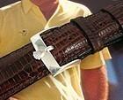 Vintage Rolex 16mm Stainless Logo Buckle 20mm Genuine Lizard Strap