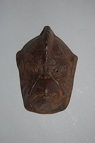 Maedate helmet ornament, karasu-tengu, Japan, 19th c.