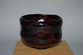 Lacquer chawan, Raku imitation, Japan, Meiji era, 19th