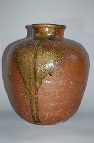 Shigaraki ware jar, ceramic, Japan Momoyama /  Edo period