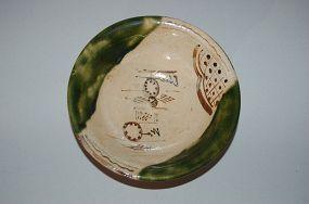 Stoneware serving dish, Oribe ware, Japan 20th century