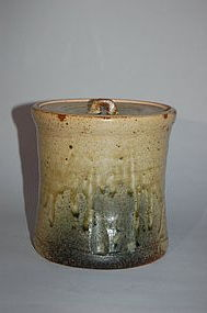 Mizusashi water jug, stoneware, Seto, Japan 20th century