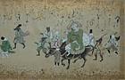 Handscroll, Daikoku and rats in sankin kotai procession, Japan, 19th c