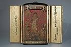 Small zushi, Fudo Myoo, Seitaka & Kongara doji, Japan, Edo period