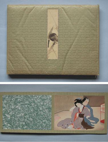 Shunga album, erotic paintings, attr. Tomioka Eisen, Japan, Meiji era