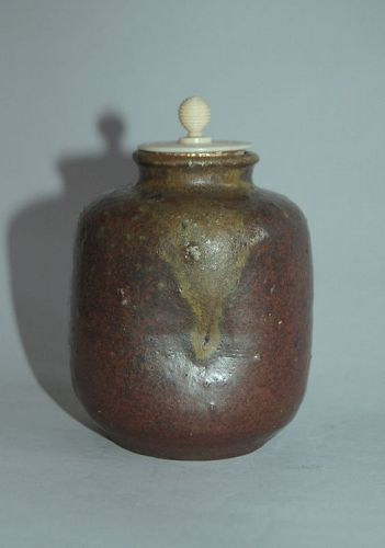Chaire stoneware tea caddy, possibly Seto ware, Japan, 18th century
