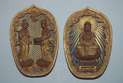Zushi, Raigo: Amida Buddha, Seishi & Kannon bosatsu, Japan, Edo per