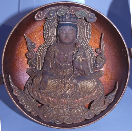 Zushi, 11-headed Kannon bosatsu with lotus, Japan, Meiji era