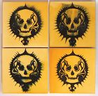Patty Martori, Installation of skulls on wooden squares, 1990