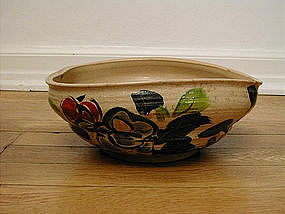 Large Kenzan-style bowl, stoneware, 20th c.