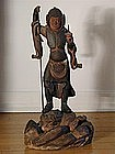 Wooden statue of Bishamonten, Japan, early Edo period