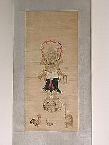 Scroll painting, Shomen Kongo, Japan 18th century