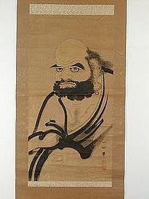 Scroll painting, Daruma, sumie, Japan 19th c.