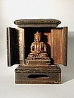 Zushi, soapstone sculpture Buddha, Japan/China 19th c.