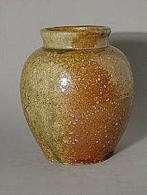 Small storage jar, stoneware, Shigaraki, Japan 19th c