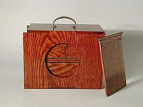 Elegant wooden picnic lunch box, Japan, Meiji period