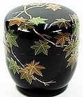 Natsume tea caddy, lacquer, maple tree, Soko Dojo, Japan, 20th c