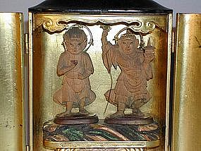 Zushi, Bishamonten and Kongo Yasha Myoo, Japan, 19th c.