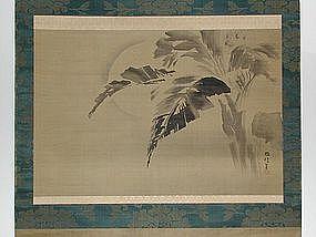 Scroll, banana tree, Kano Yosenin, Japan, 18th c.